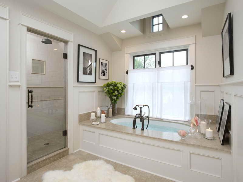 Modern White Tile Bathroom